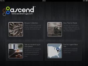 Ascend Rugs Ipad App